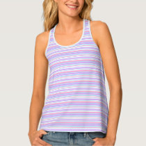 Pastel Easter Stripes Tank Top