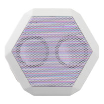 Pastel Easter Stripes White Bluetooth Speaker