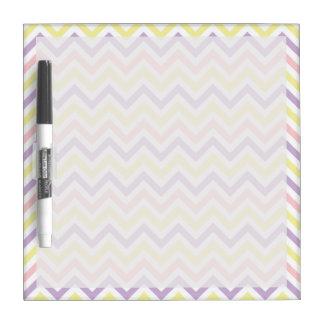 Pastel Easter Zig Zags Pattern Dry Erase Whiteboards