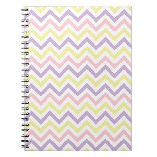 Pastel Easter Zig Zags Pattern Notebook