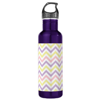 Pastel Easter Zig Zags Pattern Water Bottle