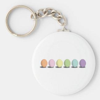 Pastel Eggs Key Chain