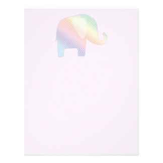 pastel elephant letterhead