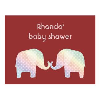 pastel elephants postcards