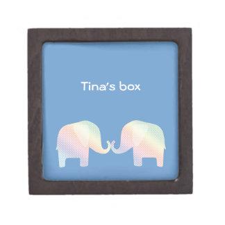 pastel elephants premium keepsake box