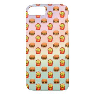 Pastel Emoji Burger and Fries iPhone 8/7 Case