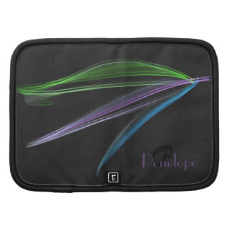 Pastel Feathers Abstract Personalized Monogrammed Organizers