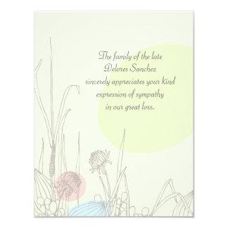 Pastel Fields - Bereavement Thank You Notecard