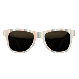 Pastel Flamingo Colors Stripes Sunglasses