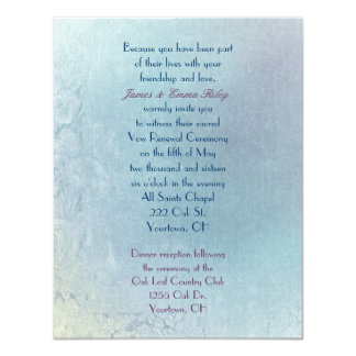 """Pastel  Floral Abstract Vow Renewal 4.25"""" X 5.5"""" Invitation Card"""