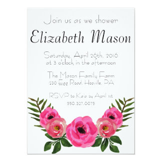 Pastel Floral Baby Shower Card