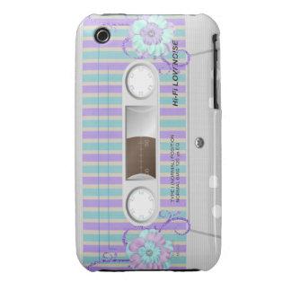 Pastel floral cassette iphone case iPhone 3 case