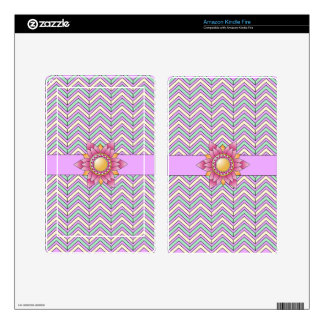 Pastel Floral Chevron Skin For Kindle Fire