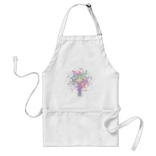 Pastel floral delantal
