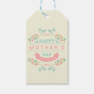 Pastel Floral Flowers Decor - Happy Mother's Day Gift Tags