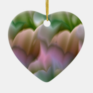 Pastel Floral Heart Ornament