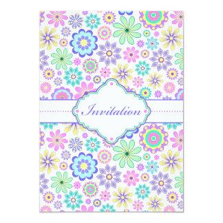 Pastel floral invitation