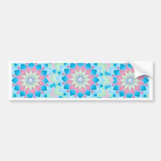 Pastel Floral Kaleidoscope Bumper Sticker