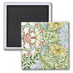 Pastel Floral Pattern 2 Inch Square Magnet