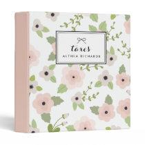 Pastel Floral Pattern Personalized Binder