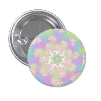 Pastel Floral Sprinkles Small Round Button