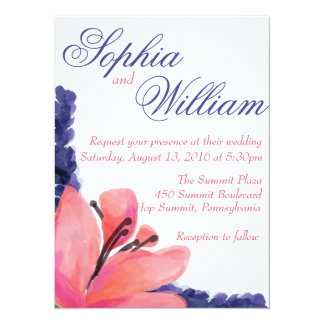 Pastel Floral Wedding Card