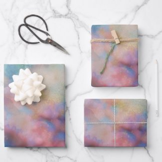 Pastel Floral Wrapping Paper Sheets