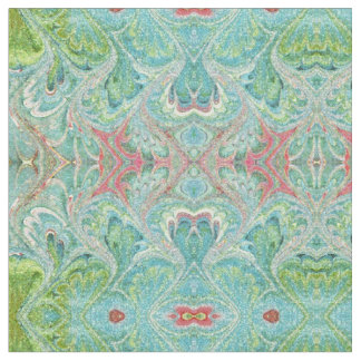 Pastel Florentine Marbling Abstract Fabric