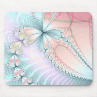 pastel flower chains mouse pad