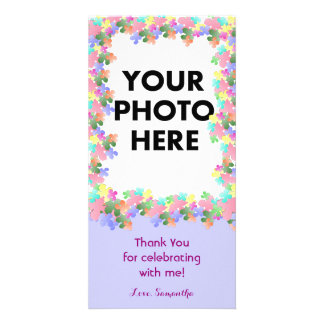 Pastel Flower Collage Custom Card