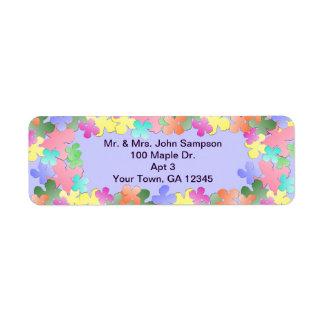 Pastel Flower Collage Custom Label