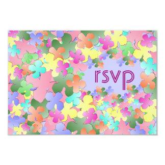 Pastel Flower Collage Custom RSVP Card