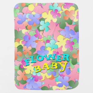 Pastel Flower Collage FLOWER BABY Swaddle Blanket