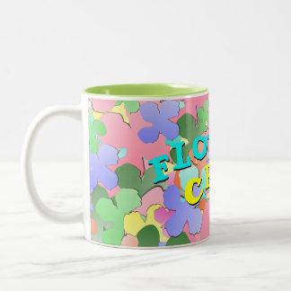 Pastel Flower Collage FLOWER CHILD Mugs
