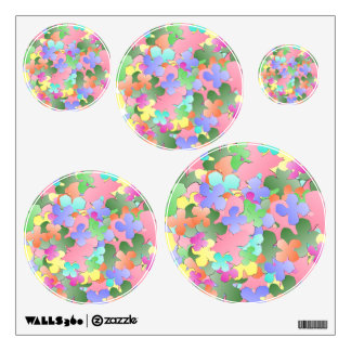 Pastel Flower Collage Room Stickers