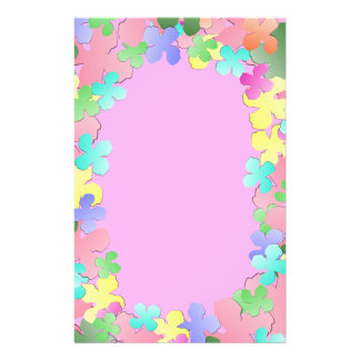 Pastel Flower Collage Stationery