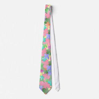 Pastel Flower Collage Tie