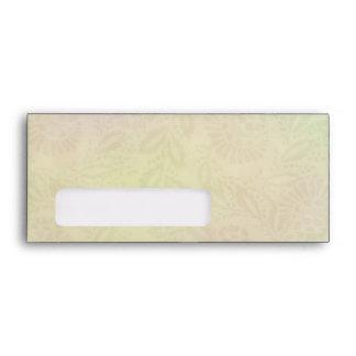 Pastel Flower Design A9 window Envelopes