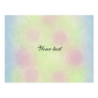 Pastel Flower Design Postcard