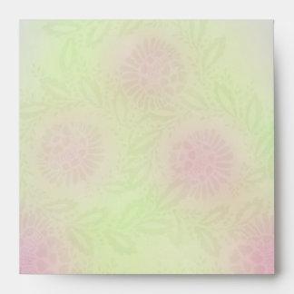 Pastel Flower Design - Square Envelope