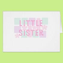 Pastel Flower Fade Little Sister Card
