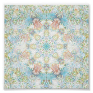 Pastel Flower Mandala Poster