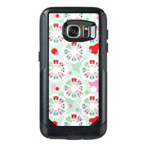 pastel flower owl background pattern OtterBox samsung galaxy s7 case