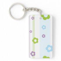 Pastel Flower Pattern Keychain