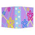 Pastel Flower Power binder