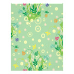 pastel flowers abstract customized letterhead