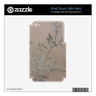 Pastel Flowers Decals For iPod Touch 4G