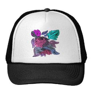 Pastel Flowers Mesh Hat