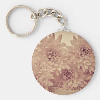 Pastel Flowers Key Chain