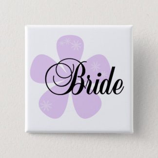 Pastel Flowers Lilac Bride Tshirts and Gifts Pinback Button